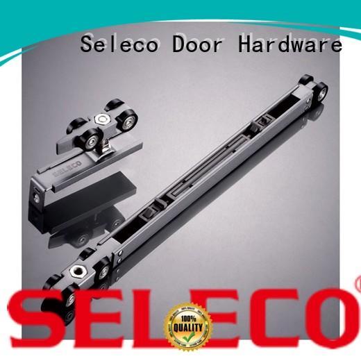 SELECO wholesale sliding barn door hardware soft close light-weight with wheel