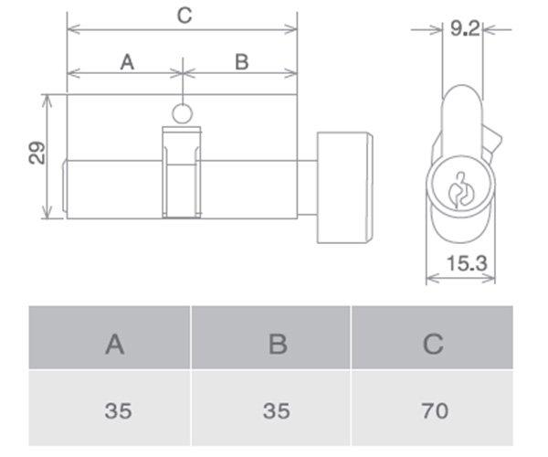 SELECO hollow split metal door lock at discount-5