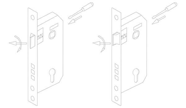 zinc alloy door lock hardware modern hotel door freedom series-11