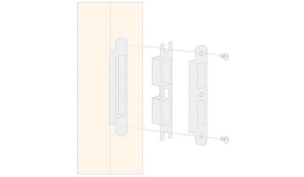 zinc alloy door lock hardware modern hotel door freedom series-12