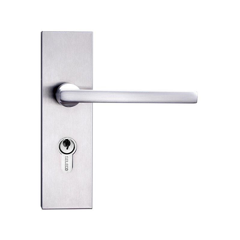 Door Lock With Handle Lever and Escutcheon,Cylinder Keys SM-502506ET-5050SS