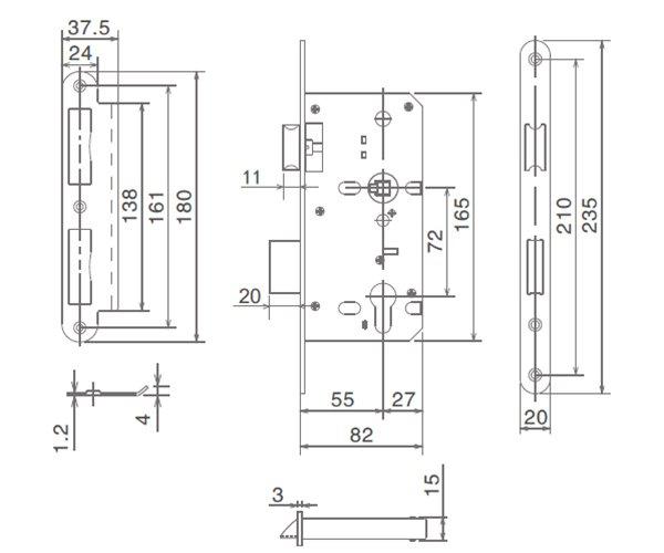 SELECO hollow split metal door lock free sample at discount-4