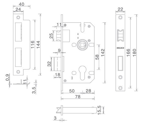 SELECO zinc alloy balcony door lock bathroom door for wholesale-4