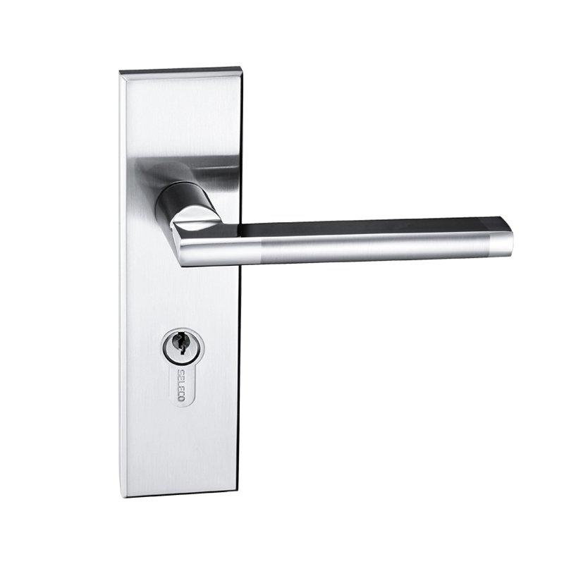 Zinc Alloy Door Lock SX-5767ET-2-21NPSN Zinc Alloy Door lock With Lock  body,Lever handle,Cylinder,Keys
