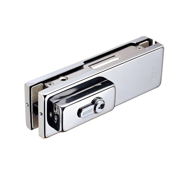 Corner clamp with keys for glass door patch fitting SP-800A