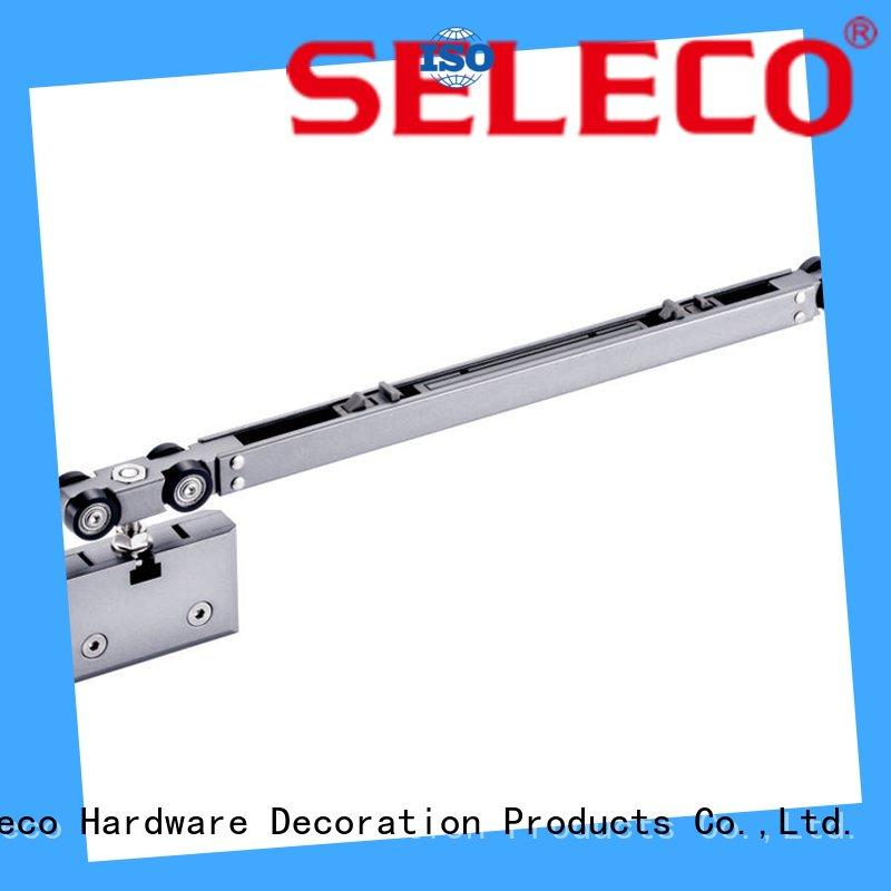 SELECO light-weight soft close sliding door hardware soft closing with hanger