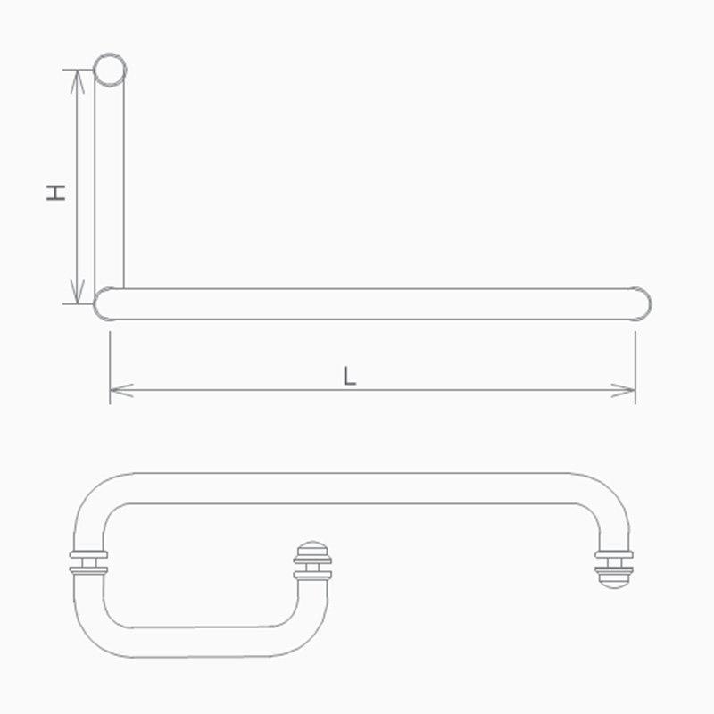 SELECO poplar shower glass handle with PVC gasket-2