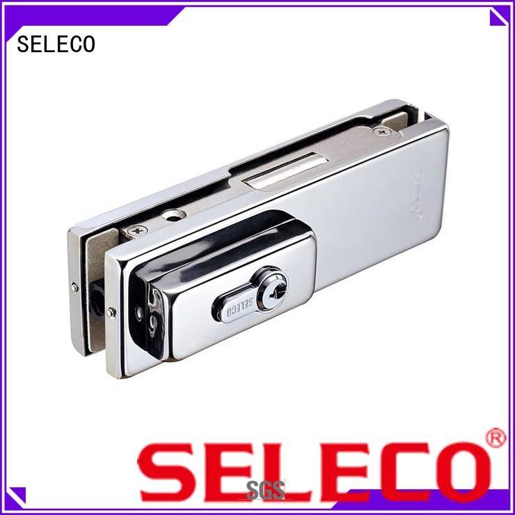 custom glass door fittings suppliers low-cost with clamp SELECO