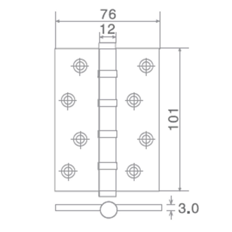 SELECO round angle stainless steel door hinges hot-sale at discount-2