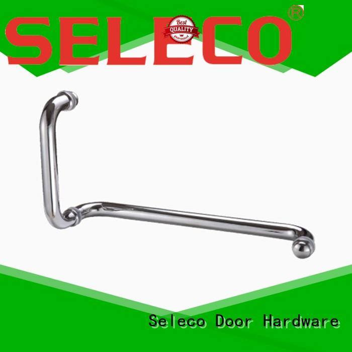 SELECO wholesale shower glass handle with PVC gasket for door factory