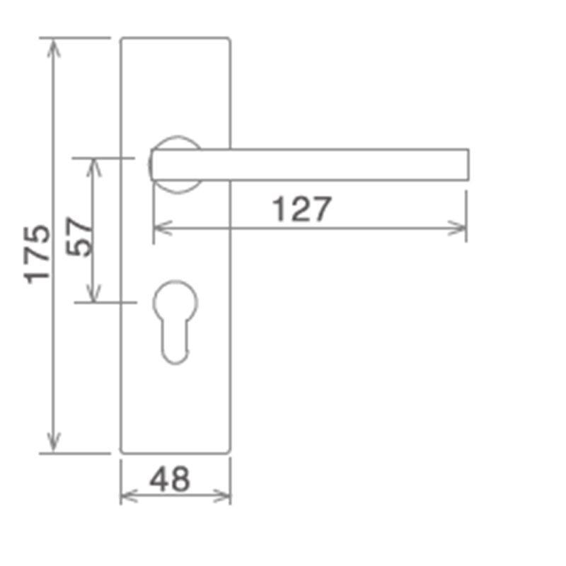 zinc alloy door lock hardware modern hotel door freedom series-2