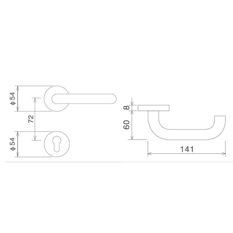 SELECO wholesale metal door lock fire-proof for door factory-2