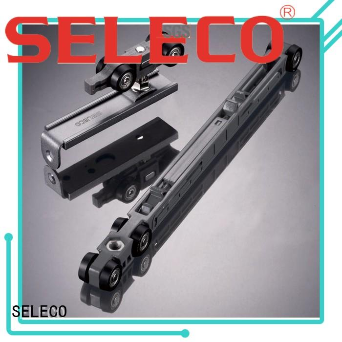 sliding direction wheel closing soft close sliding door hardware SELECO