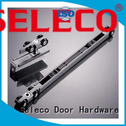 SELECO Brand hanger buffering sliding door tracks and wheels direction supplier