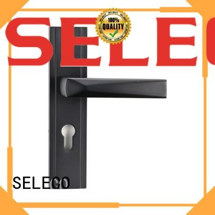 SELECO elegant metal door lock hotel door for wholesale