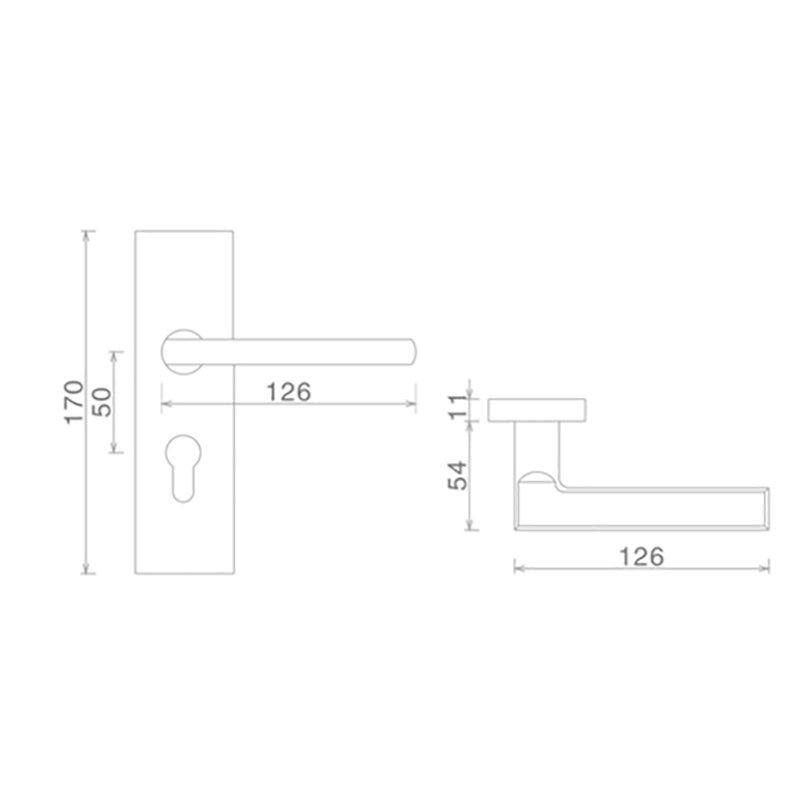 professional stainless steel door locks custom free sample door fabrication-2