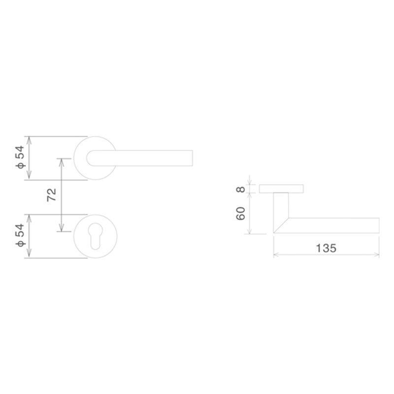SELECO hollow split metal door lock free sample at discount-2