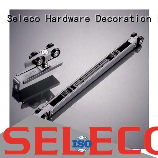 sliding door tracks and wheels door 60kg soft close sliding door hardware manufacture