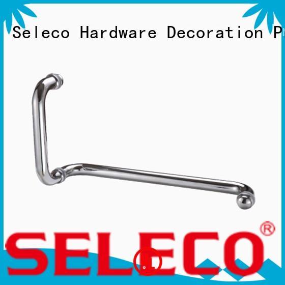 SELECO custom shower door bar handles with PVC gasket door parts