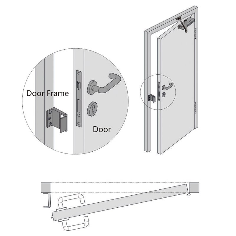 zinc alloy front door security chain cheapest factory price at discount SELECO-5
