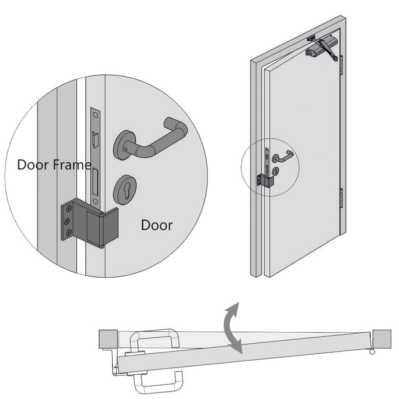 zinc alloy front door security chain cheapest factory price at discount SELECO-6
