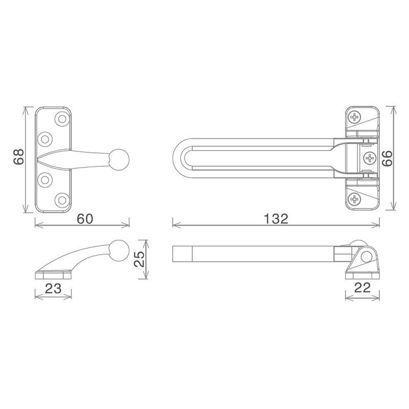 sliding door safety chain anti-theft cheapest factory price for wholesale-2