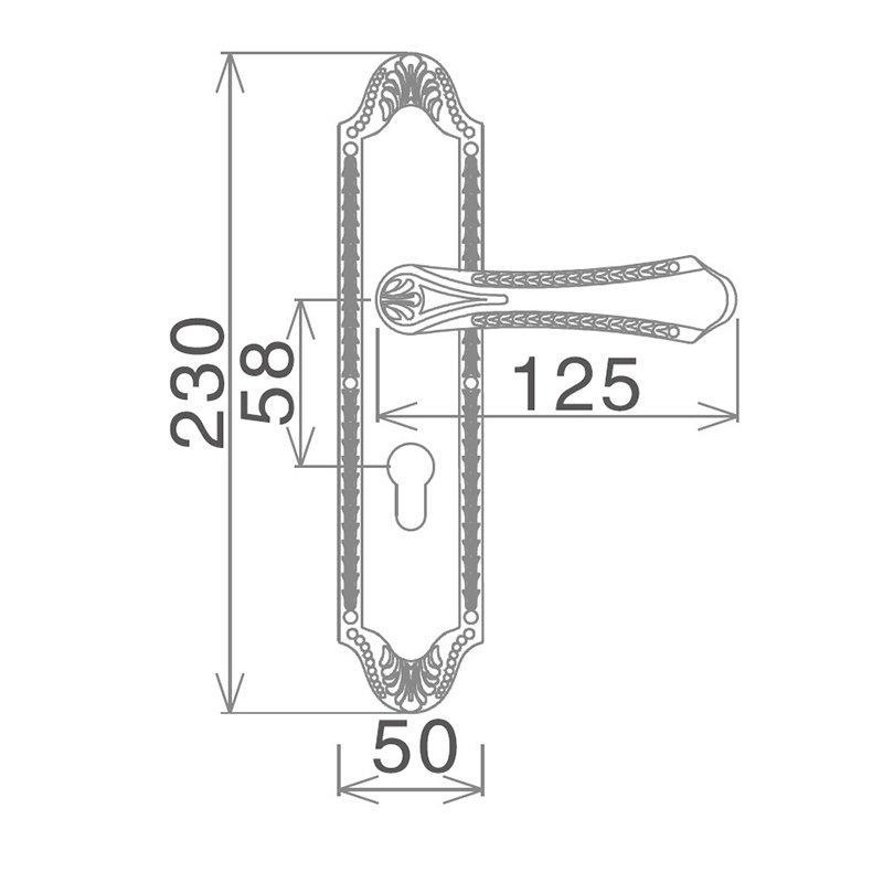 SELECO zinc alloy balcony door lock bathroom door for wholesale-2