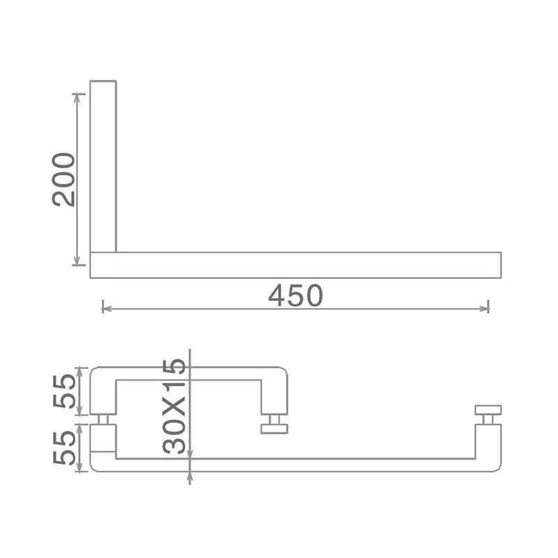 SELECO custom glass shower door handles easy-installation-2