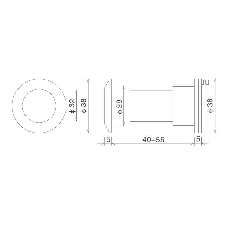 SELECO anti-theft wide angle peephole custom for wholesale