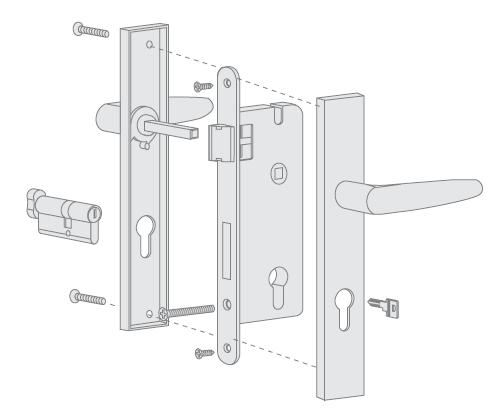 simple design garden door lock fashion bedroom door