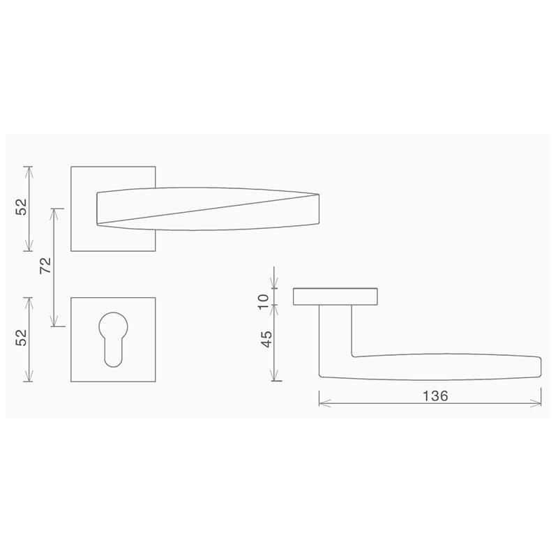 SELECO simple design garden door lock bedroom door for wholesale