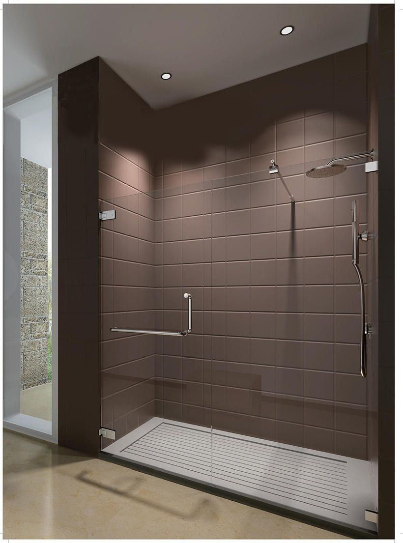 SELECO custom glass shower door handles easy-installation