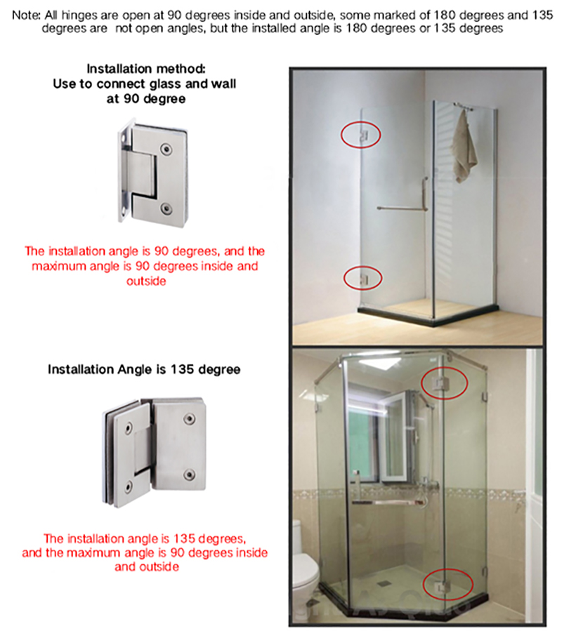 SELECO wholesale glass to glass shower door hinges-7