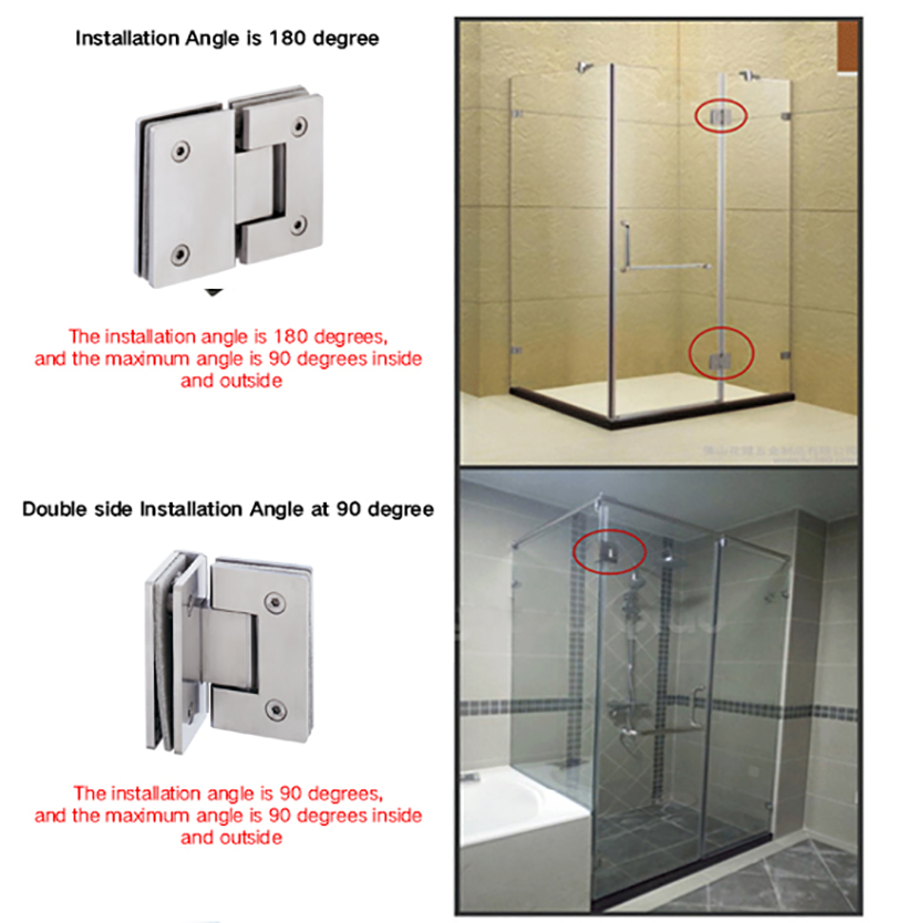 SELECO wholesale glass to glass shower door hinges-8