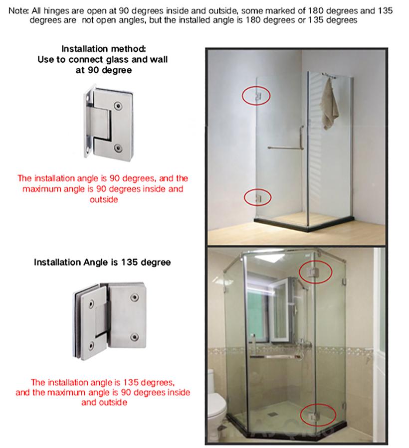 professional glass to glass shower door hinges chic design bathroom door-7