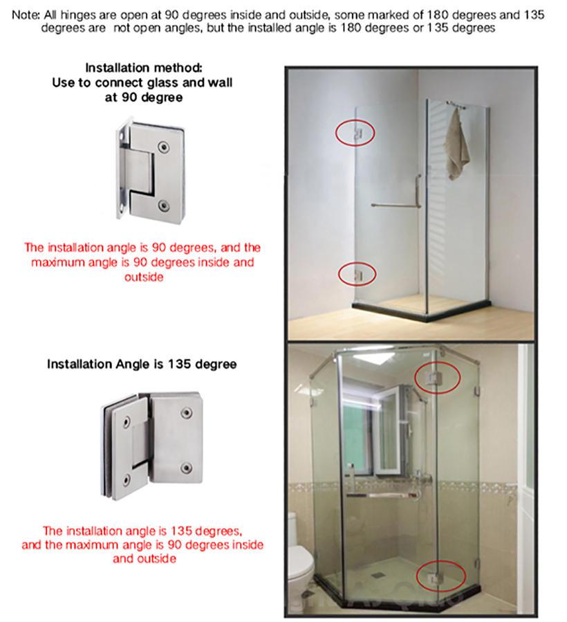 professional glass to glass shower door hinges chic design bathroom door
