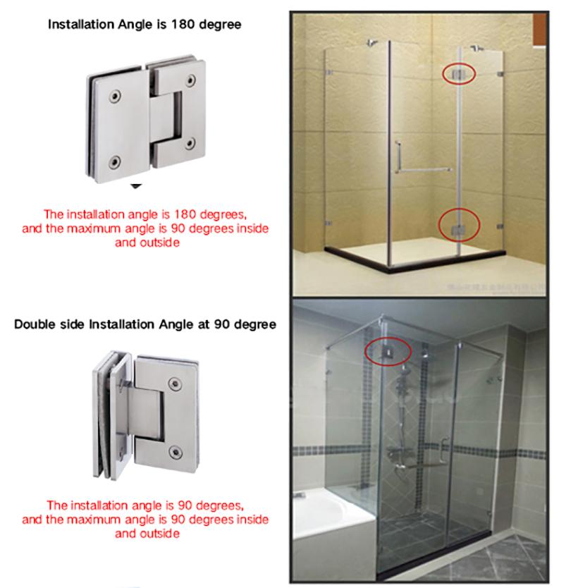 professional glass to glass shower door hinges chic design bathroom door-8