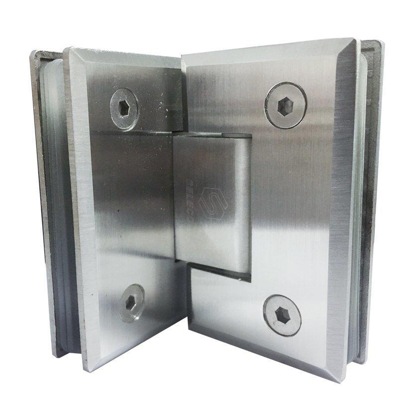 90 Degree glass to glass shower hinge SI-B304