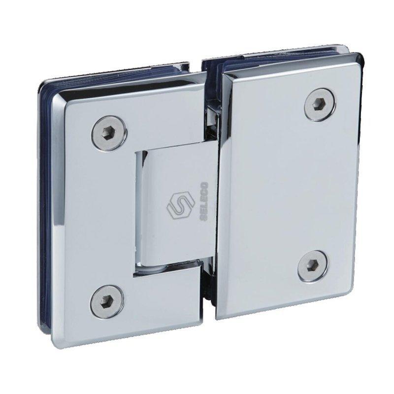 180 Degree glass connect glass bathroom hinge SI-B303