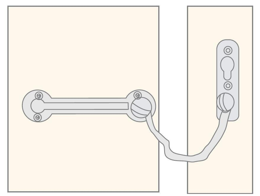 sliding chain door guard zinc alloy fastener button free delivery