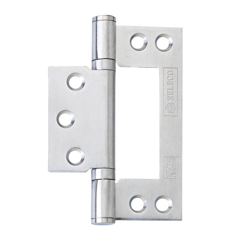 Stainless Steel Non-Mortise Hinges-With Finial 4X3X2.5