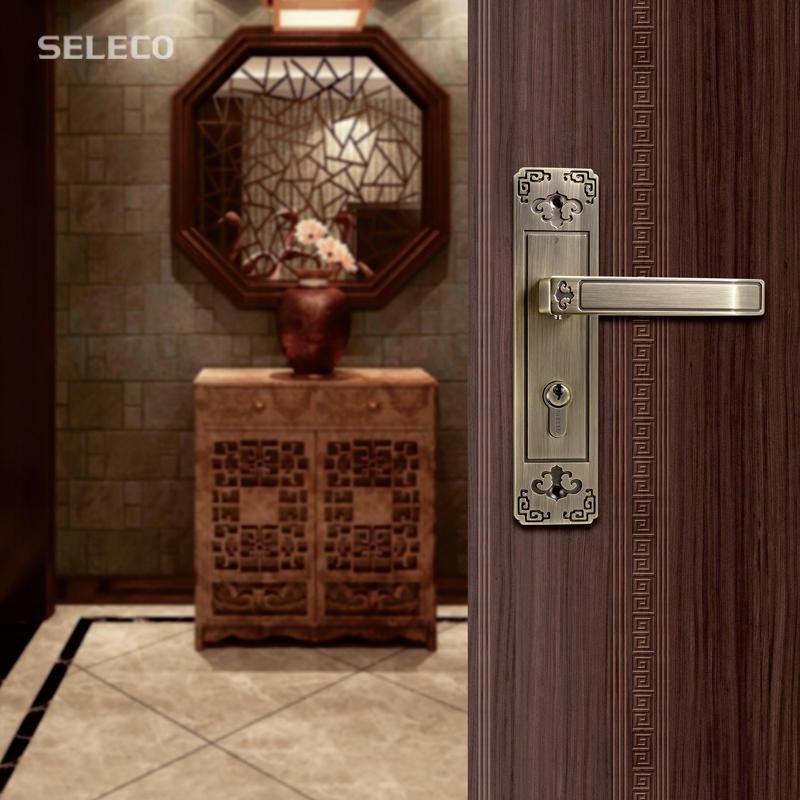 FUDA Series Zinc Alloy Door Lock SX-58124ET-77AC/MB