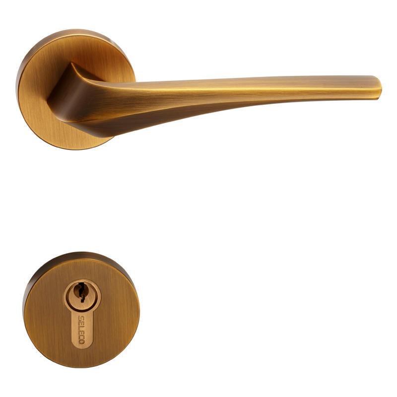 Yellow Antique Bronze Color Door Lock SX-72911ET-89GYM-AC