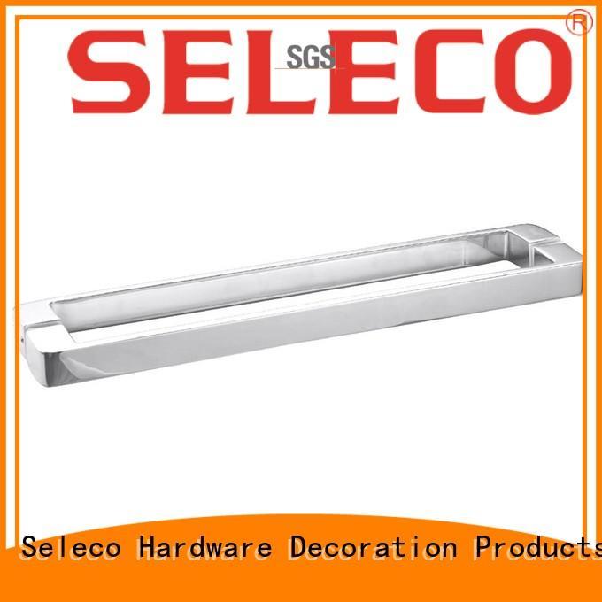 dual direction glass shower door handles wholesale with PVC gasket door parts