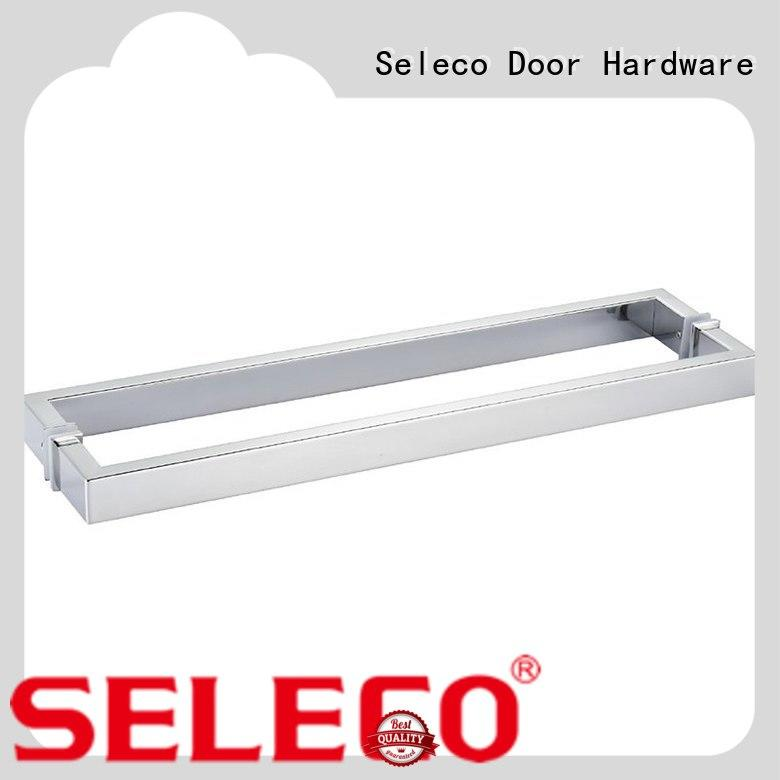 SELECO oxidation-resistant shower glass handle with PVC gasket for door factory