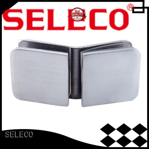 SELECO Brand steel glass shower stainless shower glass clamps