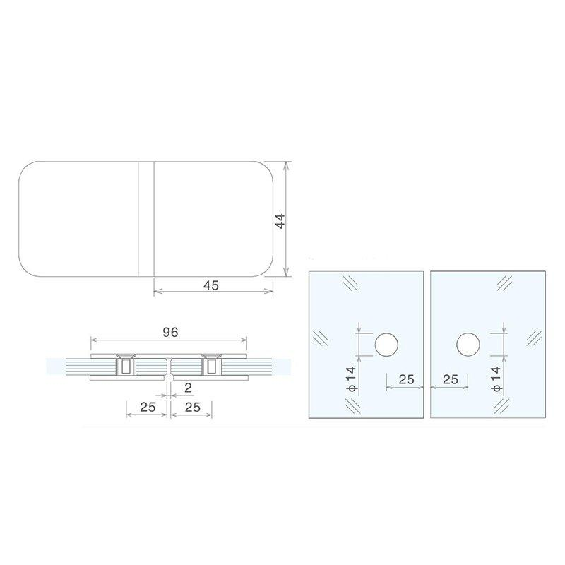 durable glass panel clamps top quick- installation at discount-2