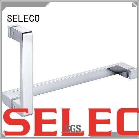 SELECO custom glass shower door handles with PVC gasket door material