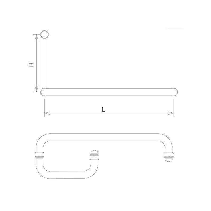 excellent hardness glass shower door handles custom with PVC gasket door material-2