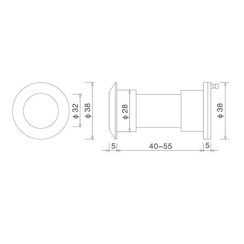 SELECO anti-theft wide angle peephole custom for wholesale-2